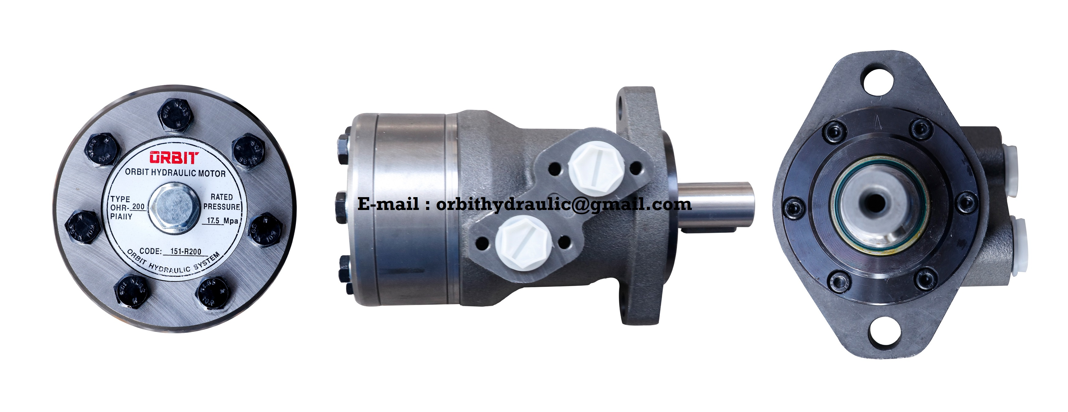 ORBIT OHR of OHR50, OHR80, OHR100, OHR125, OHR160, OHR200, OHR250, OHR315, OHR375 ORBIT Hydraulic Motor in India